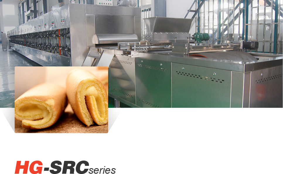 Full automatic Swiss Roll & Layer cake Production Line